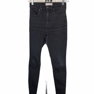 Everlane Black High Rise Stretchy Jeans 25 Ankle